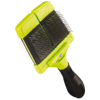 FURminator Slicker Brush - Puha sörtéjű kétoldalas kefe (nagy)