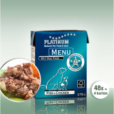 Menu Fish + Chicken / Hal + Csirke 48 x 375 gr