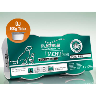 Menu Mini Pure Fish / Tiszta Hal 1 csomag -  4 x 100 gr