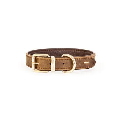 EzyDog Oxford Leather - Classic barna nyakörv S