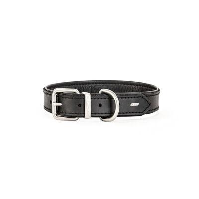 EzyDog Oxford Leather - Classic fekete nyakörv L