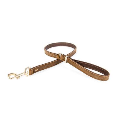 EzyDog Oxford Leather - Classic barna bőrpóráz