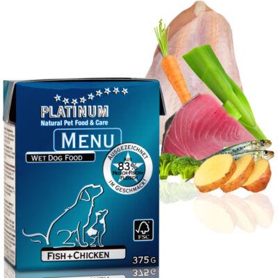 Menu Fish + Chicken / Hal + Csirke felnőtt nedvestáp 12 x 375 gr