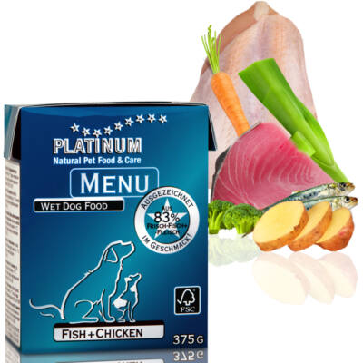 Menu Fish + Chicken / Hal + Csirke felnőtt nedvestáp 48 x 375 gr