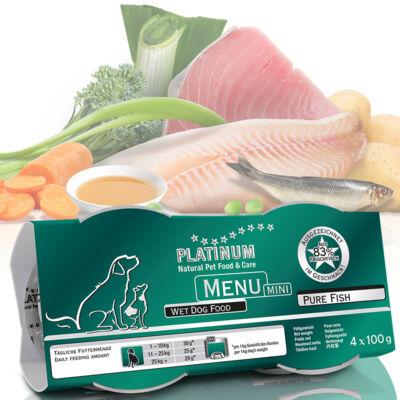 Menu Mini Pure Fish / Tiszta Hal felnőtt nedvestáp 4 karton - 48 x 100 gr