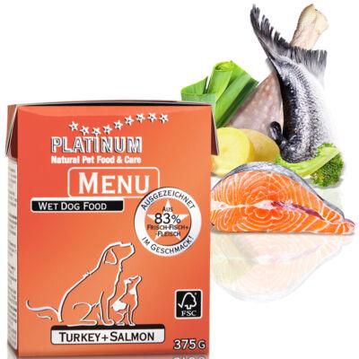 Menu Turkey + Salmon /Pulyka + Lazac felnőtt nedvestáp/ - 72 x 375 gr