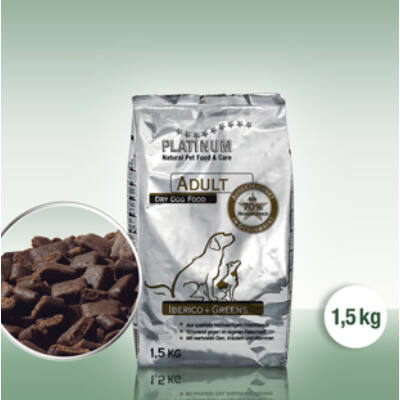Adult Iberico + Greens / Ibériai sertés + Zöldség felnőtt kutyatáp 1,5 kg